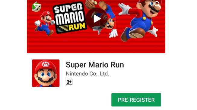 Super Mario Run di Android