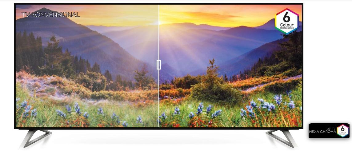 TV dengan teknologi Hexa Chroma Drive